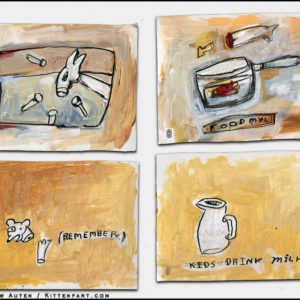 small paintings set